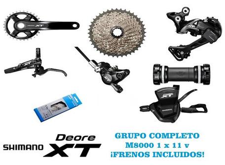 GRUPO SHIMANO XT 1X11V CON FRENOS M8000