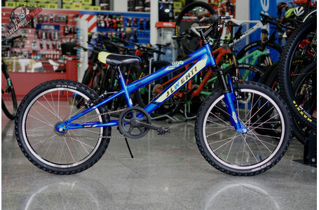 "BICICLETA JL 20"" NIÑO AZUL CON SUSPENSION"
