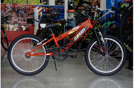 "BICICLETA JL 20"" NIÑO ROJO CON SUSPENSION"
